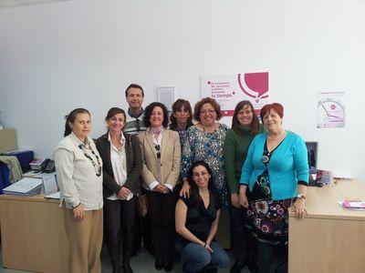 La Concejala de Empleo Visita el Banco del Tiempo de Malaga.
