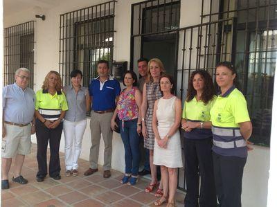 La Alcaldesa Visita las Instalaciones de las Empresas Municipales de Emabesa y Provise.