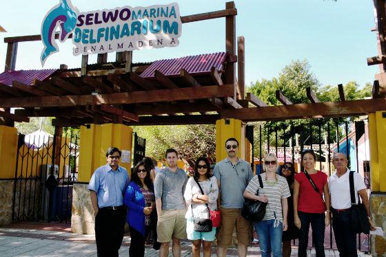 Un grupo de periodista de Abu Dhabi visitan los principales enclaves turísticos y de ocio en Benalmádena