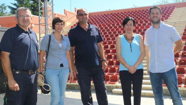 Concepción Tejada visita el auditorio municipal de Arroyo de la Miel