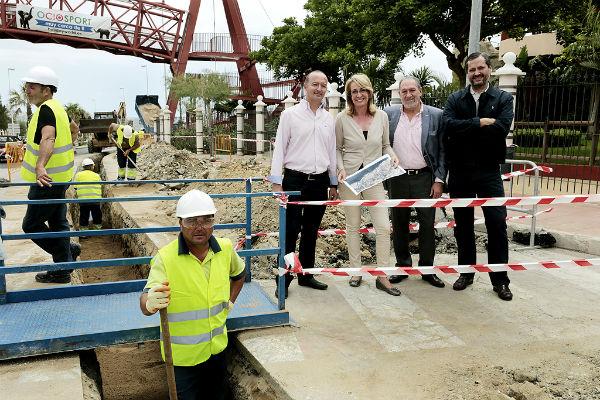 Emabesa trabaja en la instalación de una nueva red de abastecimiento de agua en la costa