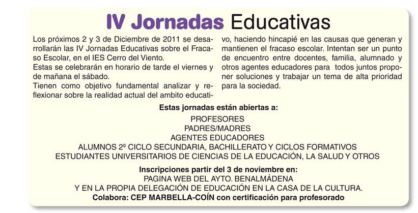 IV Jornadas Educativas