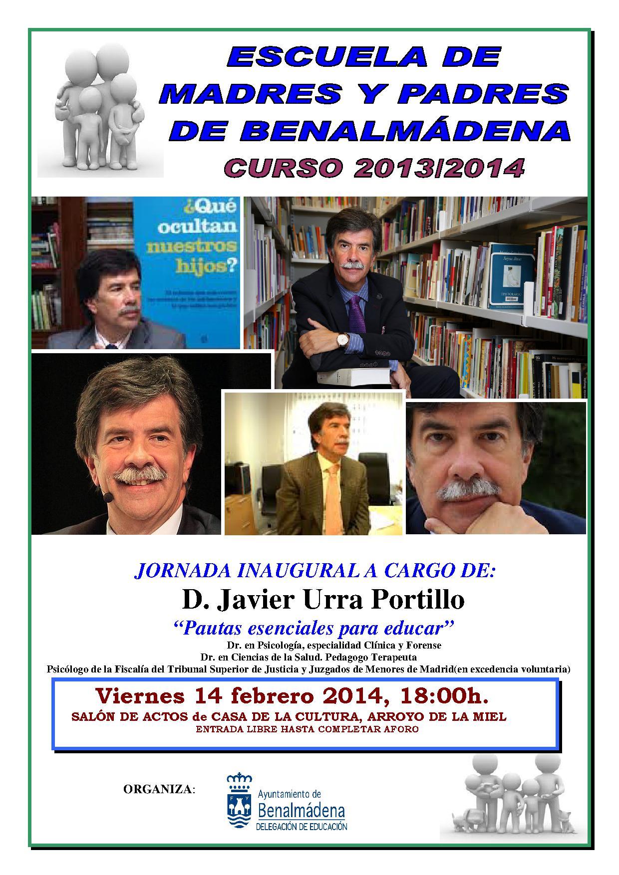 Jornada Inaugural de la Escuela de Madres y Padresde Benalmádena a cargo de D. Javier Urra Portillo