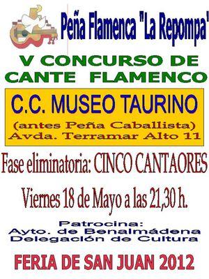 V Concurso Cante Flamenco