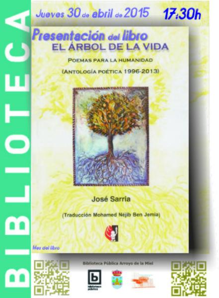 Presentación del libro 'El árbol de la vida (poemas para la humanidad 1996-2013) de José Sarria.