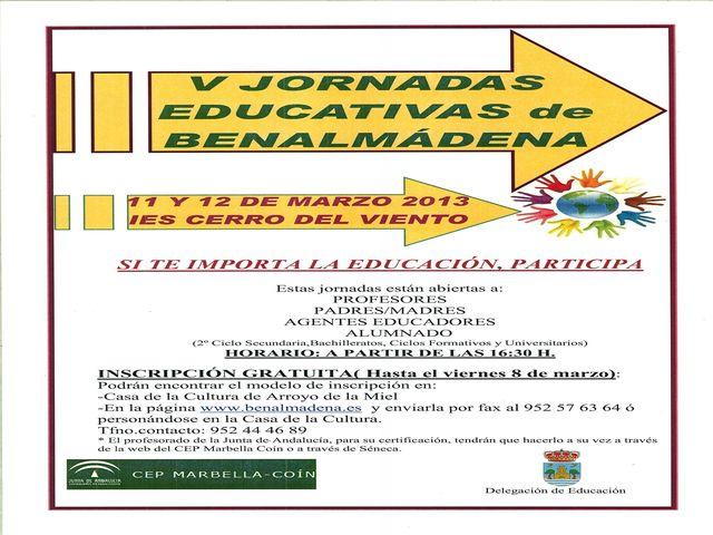 V Jornadas Educativas de Benalmádena.