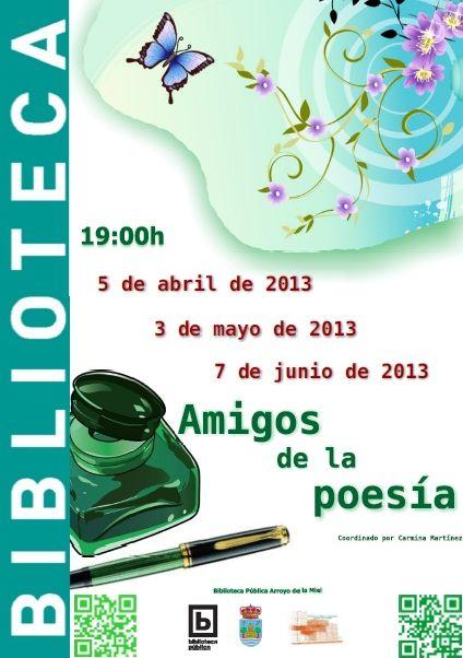 Amigos de la poesía, coordinado por Carmina Martínez