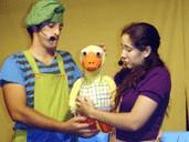 Teatro: Cuentos animados, El paitio feo, el principe feliz, los tres cerditos