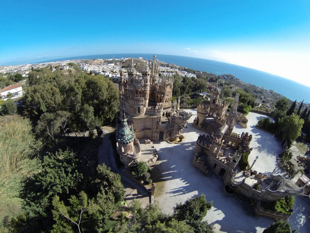 Castillo de Colomares - Vista aérea