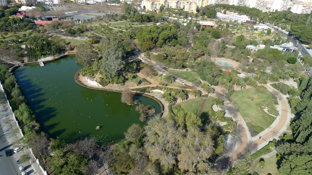 Parque de la Paloma - Vista aérea