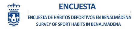 Encuesta de hábitos deportivos 2021