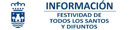 Información Festividad Todos los santos 2020