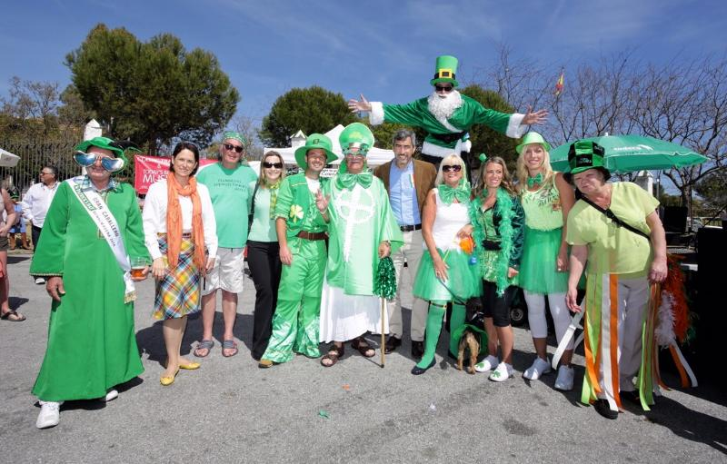 Benalmadena turns green for Saint Patrick's Day.