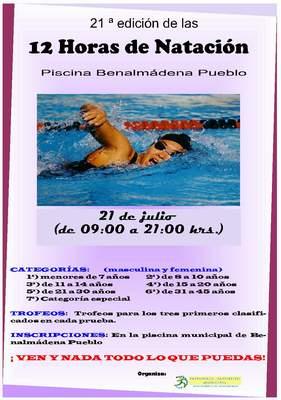 21ª Edición de las 12 horas de natación de Benalmádena