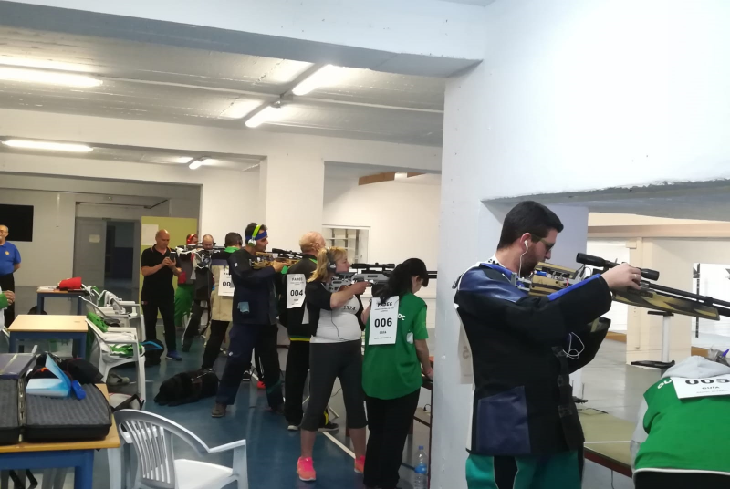 Benalmádena acogió el I Control con tiro de carabina organizado por la Federación Andaluza de Deportes para Ciegos.