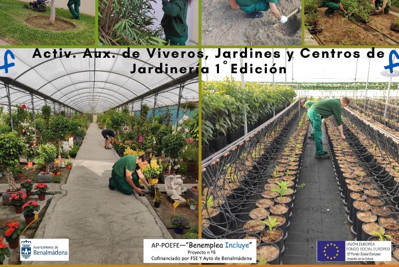 El itinerario de jardinería del proyecto 'POEFE Benalmádena incluye' logra una inserción laboral del 56%