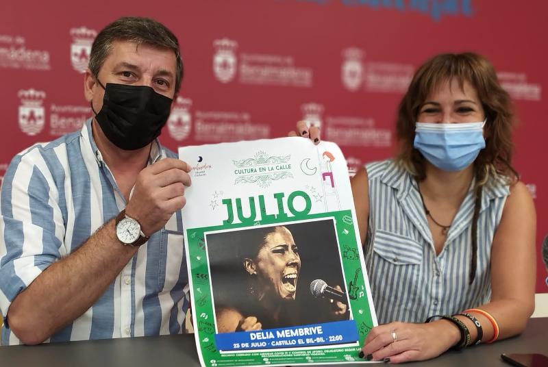 LA CANTAORA DELIA MEMBRIVE, PROTAGONISTA DE LA PRÓXIMA ACTUACIÓN DE 'CULTURA EN LA CALLE'