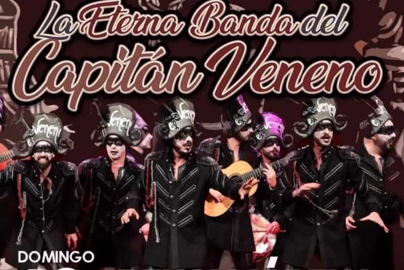 EL AUDITORIO MUNICIPAL ACOGERÁ LA ACTUACIÓN DE LA ETERNA BANDA DEL CAPITÁN VENENO EL DOMINGO 12 DE SEPTIEMBRE