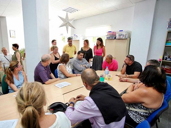 El Alcalde Víctor Navas y la Concejala Irene Díaz visitan la sede de AFESOL para comprobar el estado de las obras en sus instalaciones