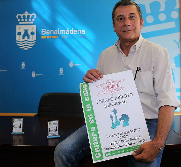 El parque de la Paloma acogerá el próximo viernes el Torneo Abierto Informal de Ajedrez