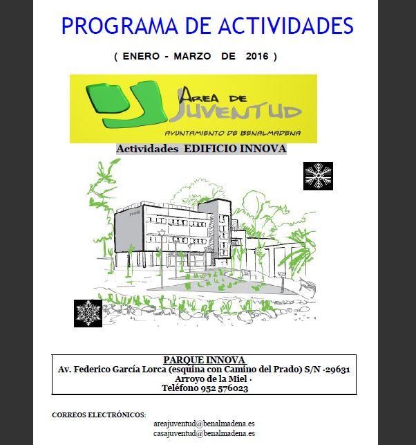 PROGRAMA DE ACTIVIDADES ÁREA DE JUVENTUD, Edificio Innova.