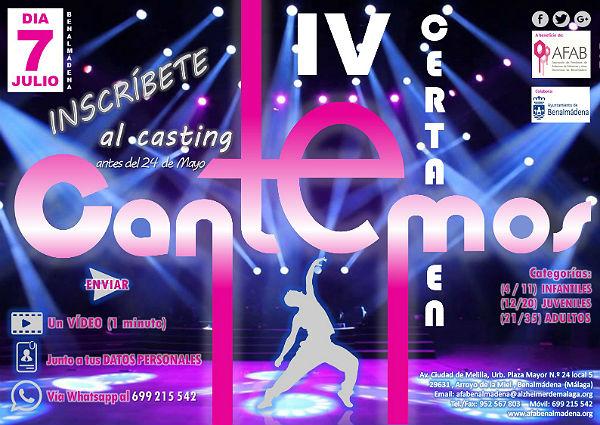 Abierto el casting para participar en el cuarto Certamen Cantemos, a favor de AFAB Alzheimer