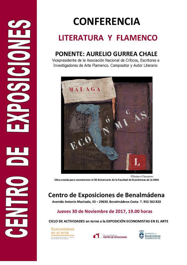 Aurelio Gurrea Chale impartirá una Conferencia sobre Literatura y Flamenco en el Centro de Exposiciones de Benalmádena el 30 de noviembre