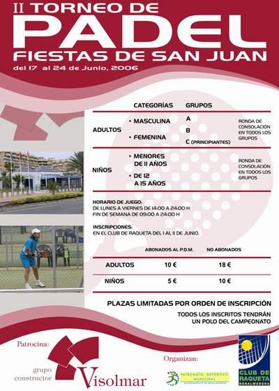 2º TORNEO DE PADEL FIESTAS DE SAN JUAN