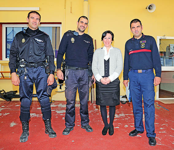 Jornadas de coordinación entre bomberos de Benalmádena y la Policía Nacional