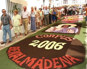 Celebración del Corpus christi  de Benalmádena 2006