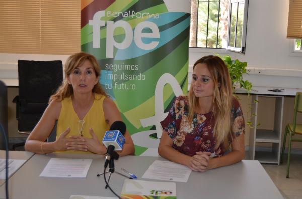 La Concejala Beatriz Olmedo presenta los dos nuevos cursos de Formación Profesional que acoge Benalforma