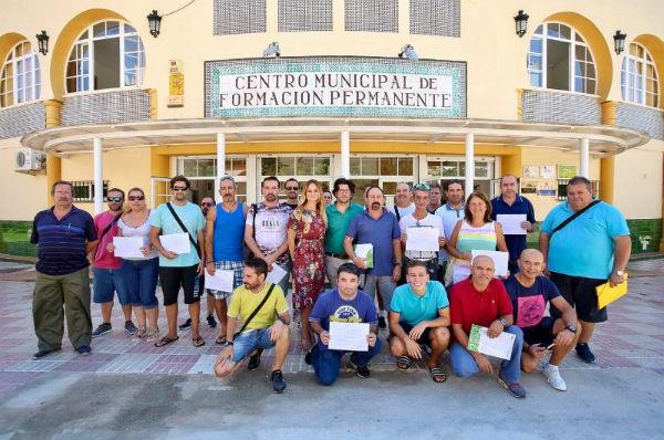 125 trabajadores del plan de empleo ¨Embellece Benalmádena´ finalizan su formación en prevención de riesgos laborables.