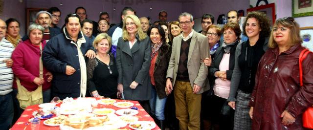 La Alcaldesa de Benalmádena asiste a la fiesta de Navidad de AFESOL