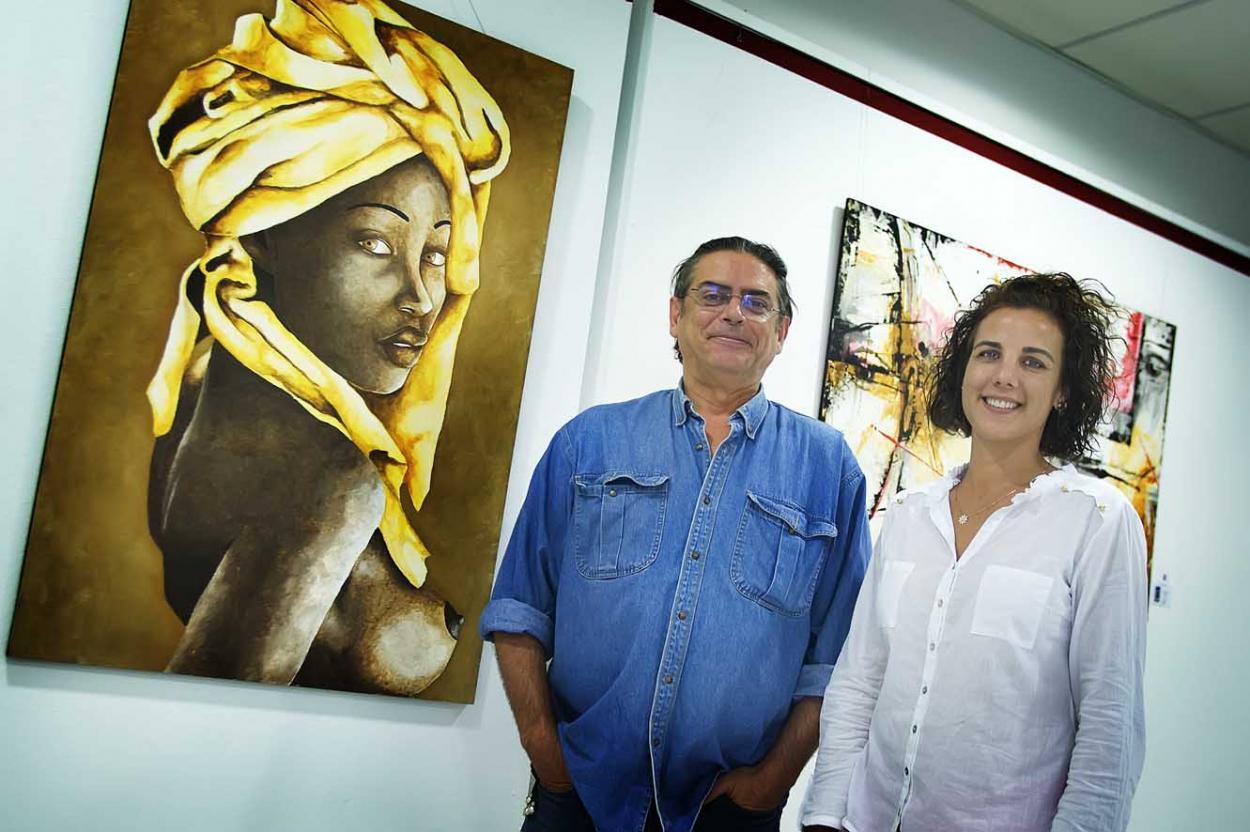 La Casa de la Cultura de Arroyo de la Miel acoge la exposición del pintor Didac Vilanova López