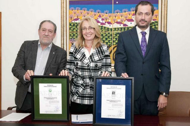 La Empresa Municipal de Aguas obtiene el certificado de calidad de Aenor por la prestación de sus servicios y su gestión ambiental