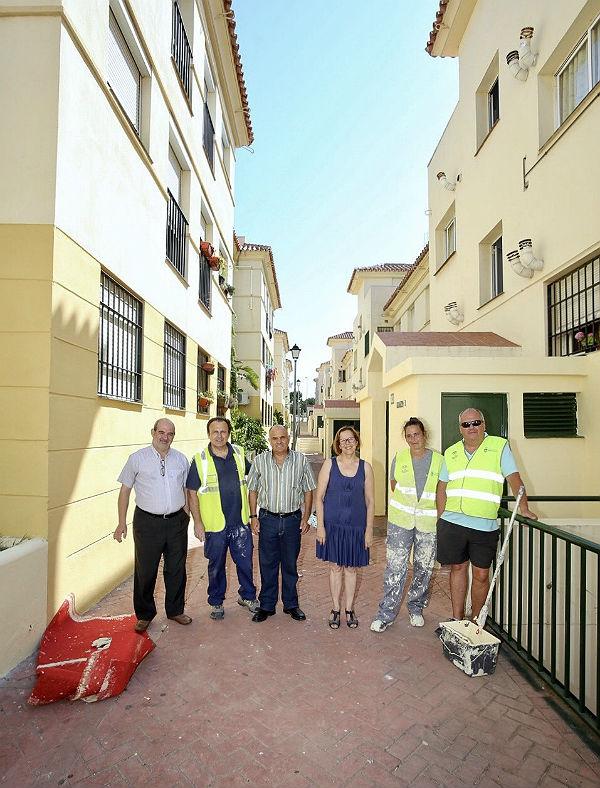 Servicios Operativos continúa con las actuaciones del Plan de Mejora en las viviendas de Calle Finoso