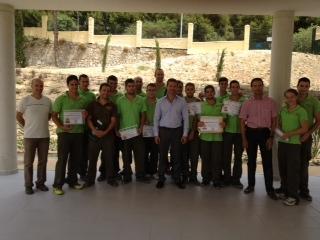 Juventud Agradece la Labor Realizada en el Parque Innova por los Alumnos en Prácticas de Jardinería de Benalforma.