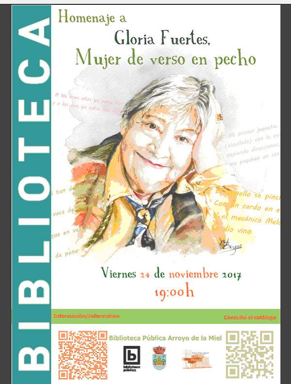 La Biblioteca Pública Arroyo de la Miel conjuga poesía, teatro y rap por el centenario de Gloria Fuertes