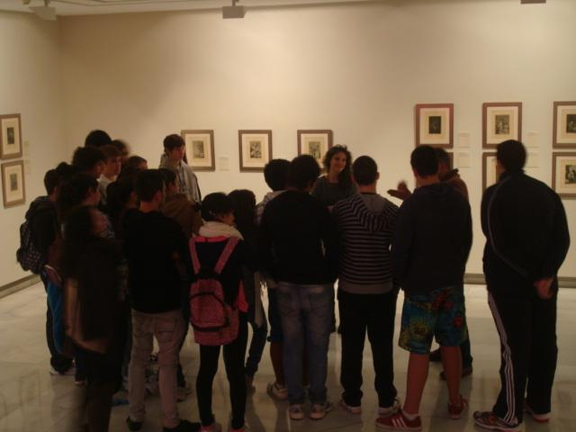 Éxito de participación de las visitas guiadas para centros educativos en la exposición 'Goya, cronista de una época'