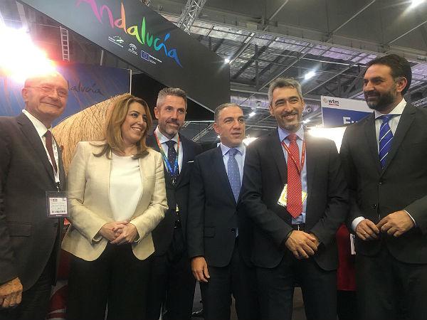 Víctor Navas promociona Benalmádena en el World Travel Market de Londres