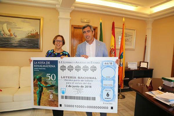 La Lotería Nacional dedicará su cupón del 2 de junio al 50º Aniversario de 'La Niña de Benalmádena' de Jaime Pimentel