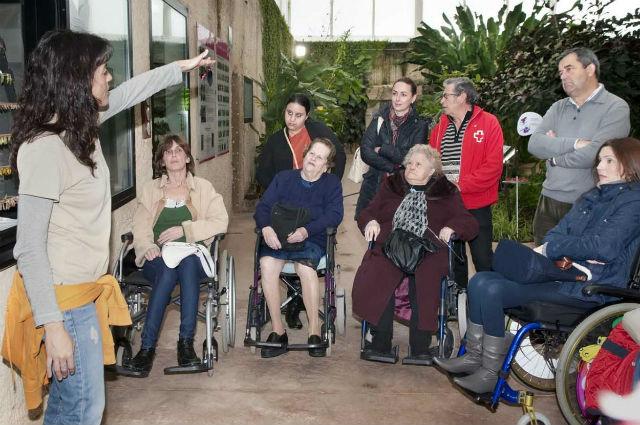 Los usuarios del programa 'Contamos contigo, sin barreras' visitan el Mariposario de Benalmádena