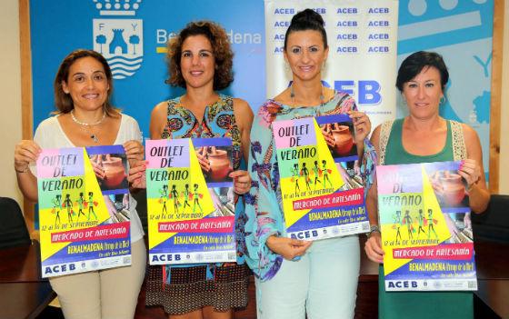 La calle Blas Infante acogerá el primer outlet de verano y mercado de artesanía, organizado por la Aceb