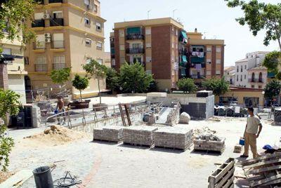 Obras de mejora en la Plaza de Las Flores