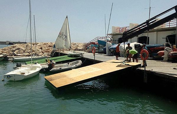 Continúan a buen ritmo los trabajos de rehabilitación y mejora en el Centro Náutico del Puerto Deportivo de Benalmádena