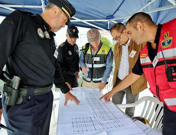 Benalmádena acoge un simulacro de incendio en el Hotel Palmasol para la puesta a punto del Plan de Emergencias Municipal