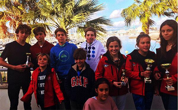 Benalmádena dominó el IV Campeonato Provincial de Optimist Málaga-Campo de Gibraltar