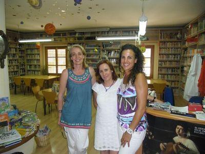 La Alcaldesa Visita el Polideportivo Ramón Rico, La Guardería Arco Iris y la Biblioteca Manuel Altolaguirre.
