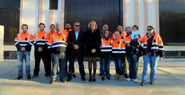 La regidora visita las instalaciones de Protección Civil y presenta al nuevo coordinador de emergencias