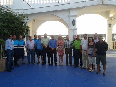 La Alcaldesa Visita las Instalaciones de Capitanía del Puerto Deportivo de Benalmádena.
